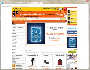 Web grupohierros.com